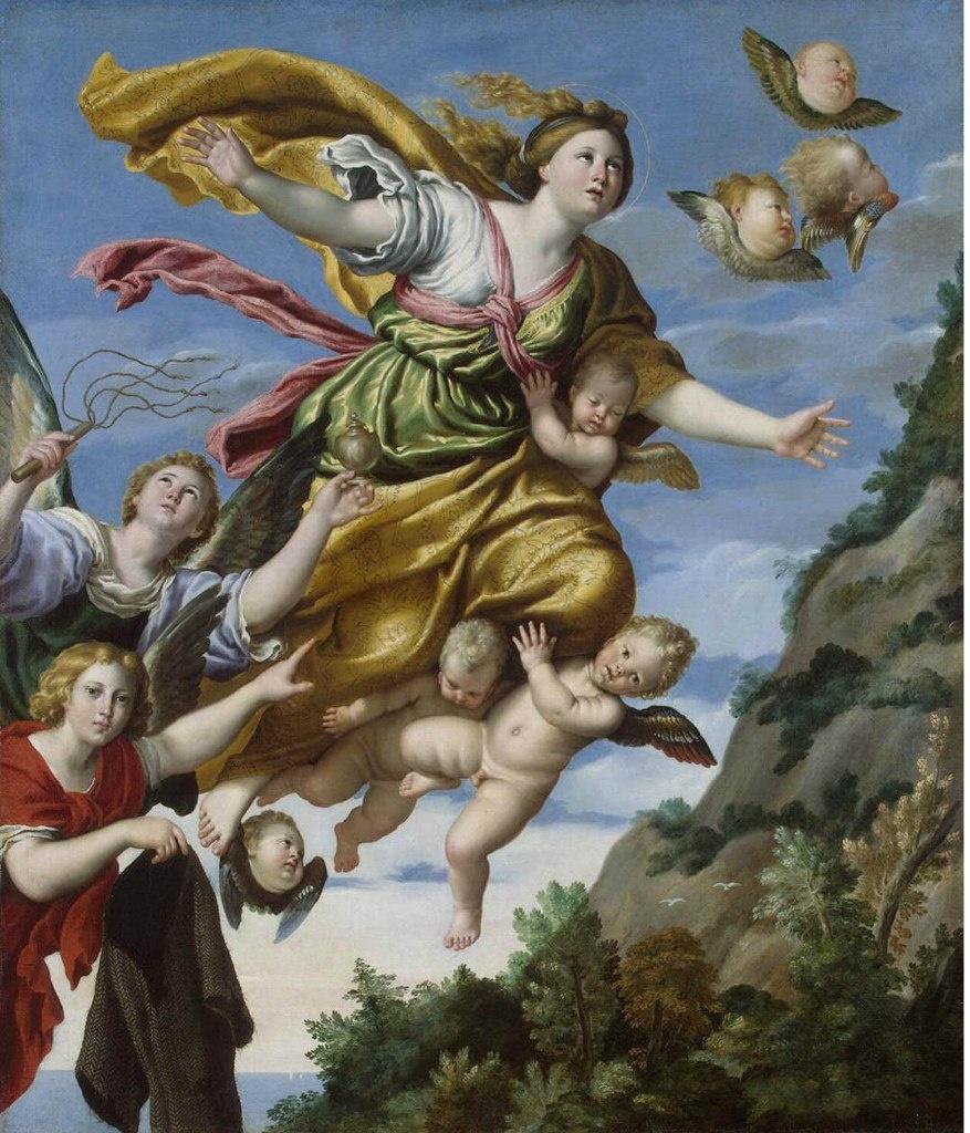 Доменикино. Вознесение Марии Магдалины, ок. 1620