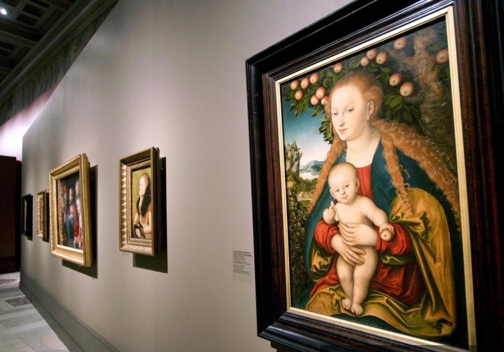 """""""Большая Мадонна с младенцем под яблоней"""", 1526"""
