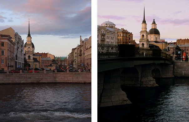 Церковь Симеона и Анны. Арх. М. Г. Земцов. 1731 - 1734 Симеоновский мост. 1733 - деревянный. Каменный - 1785