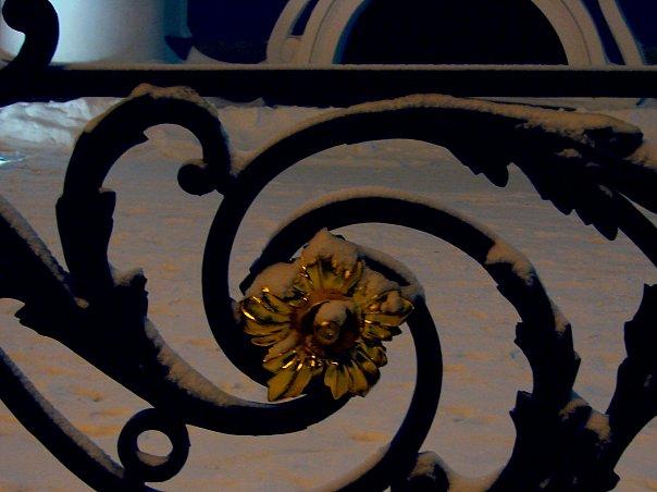 Растреллиев декор решетки Зимнего дворца