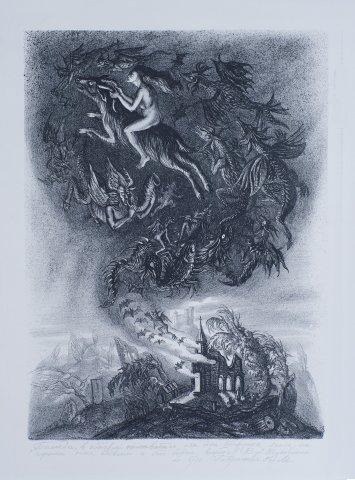 В. А. Жуковский. Баллада, в которой описывается, как одна старушка ехала на черном коне вдвоем и кто сидел впереди.
