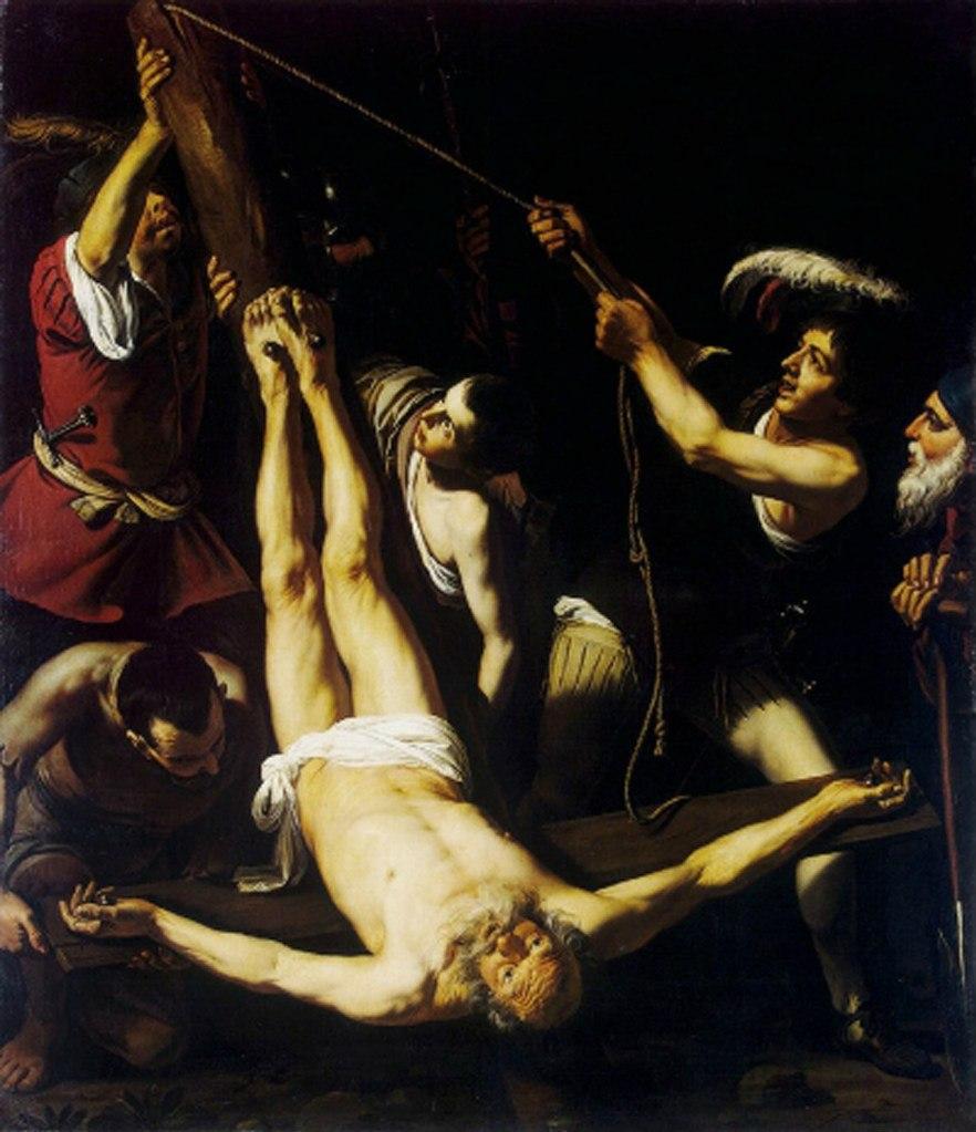 "Караваджо. ""Распятие апостола Петра"". 1600."