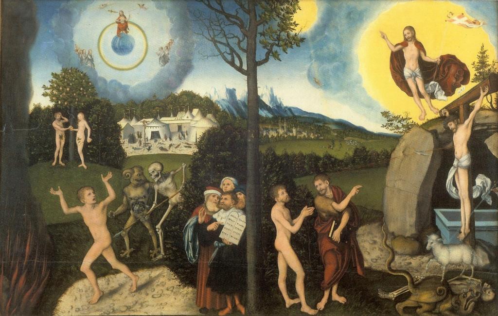 """""""Грехопадение, изгнание из рая и воскрешение"""", 1529"""