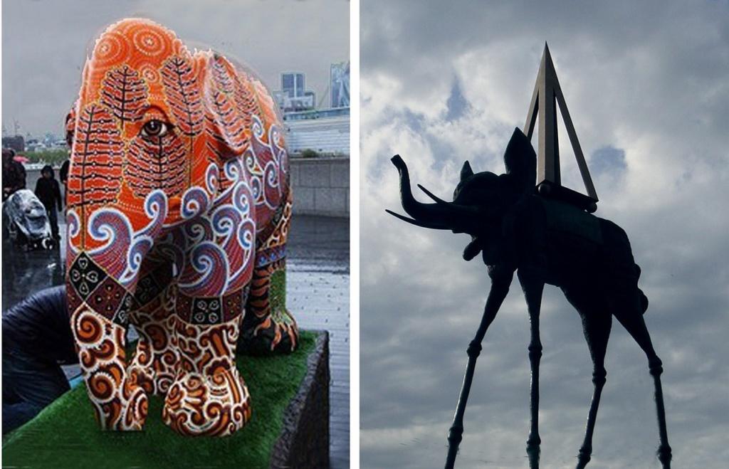 Парад слонов на Темзе