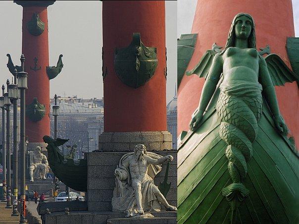 Пантеон речных Богов на Стрелке Васильевского острова