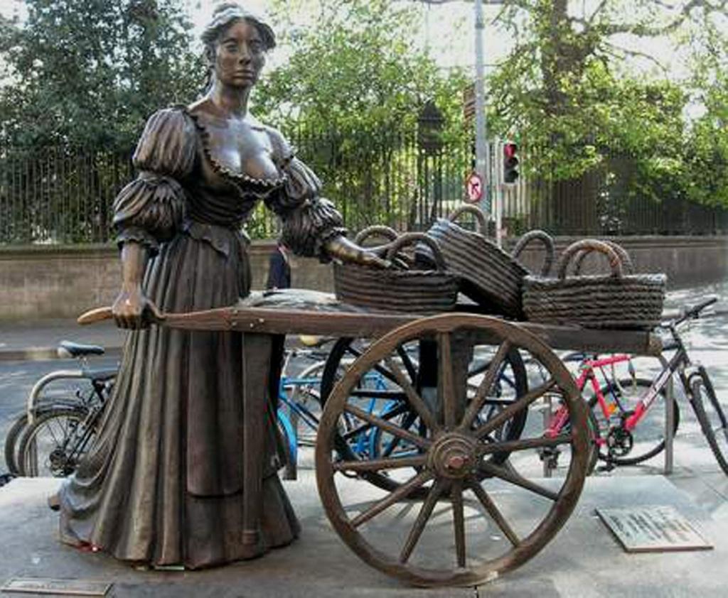 Дублин. Памятник Молли Мэлоун