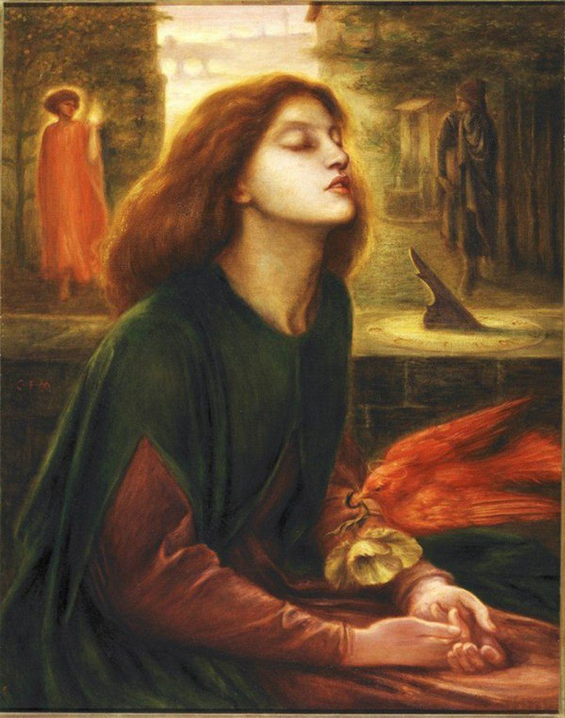a literary analysis of the blessed damozel by dante rosetti and porphyrias lover by robert browning